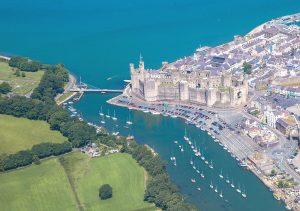 Aerial photograph of Caernarfon